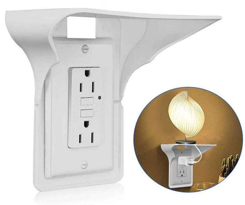 Wall Outlet Shelf - Space Saving With Cable Channel For ...