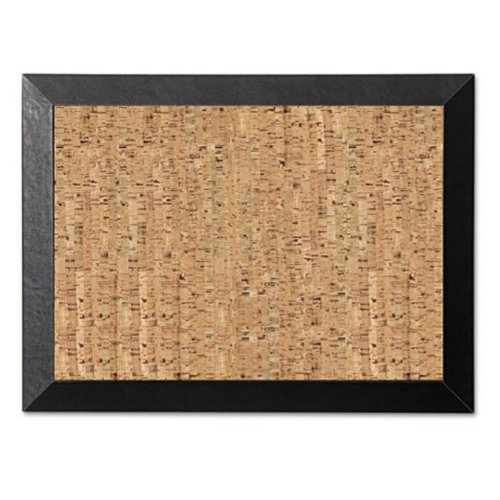 "Bi-silque Kamashi Natural Cork Personal Board - 24"" Height X 36"" Width - Cork Surface - Black Wood Frame (sf0722581012)"