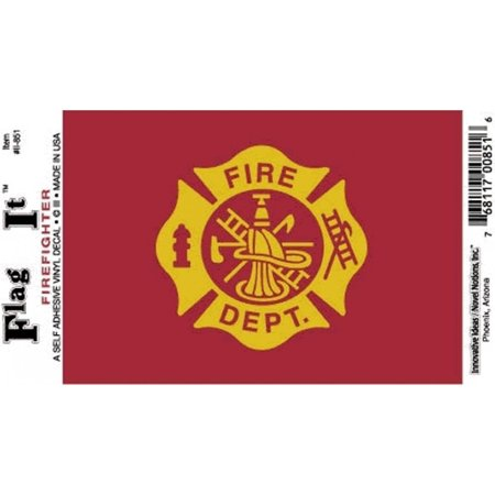 "Fire Department Decal For Auto, Truck Or Boat - 3.25"" x 5"" - High Gloss UV Coated Laminate Water Proof Sticker DECAL"