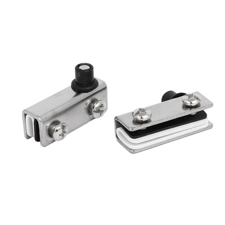 Monitor Clamping Pivot - Uxcell 3mm-5mm Glass Thickness Metal Pivot Hinge Clamp Shelf Clip Silver Tone 2pcs