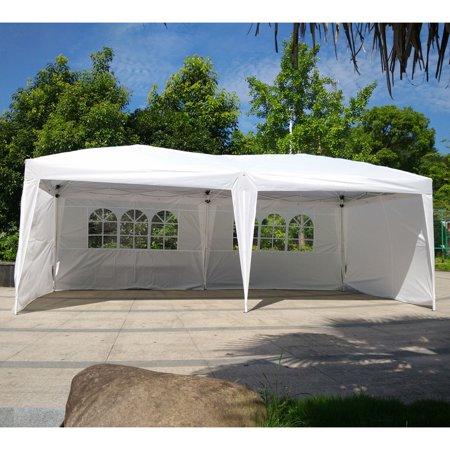 (Ktaxon 10'X20' Easy POP UP Wedding Party Tent Foldable Gazebo Canopy Shelter W/4 Walls)