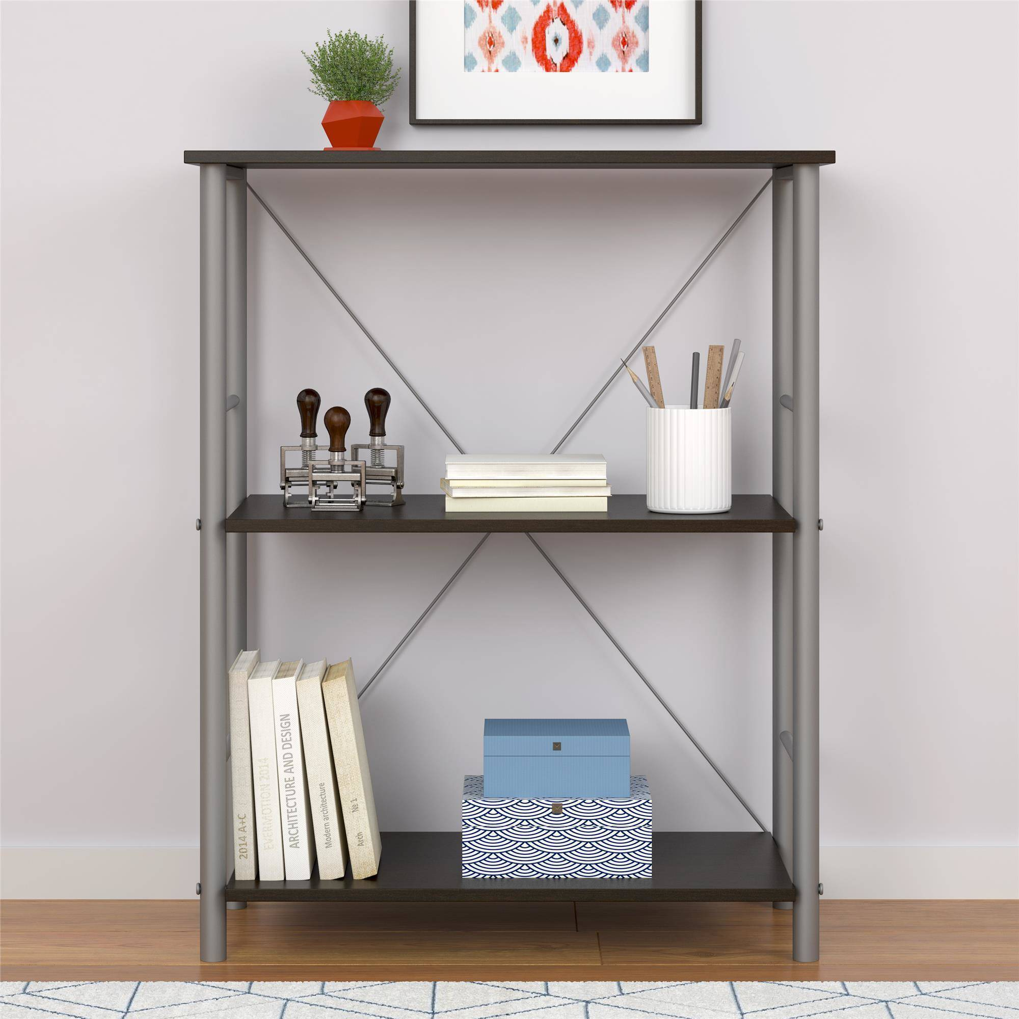 Mainstays 3 Shelf Bookcase, Multiple Colors