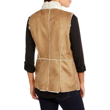 Maxwell Studio Women's Faux Sheepskin Flyaway Vest