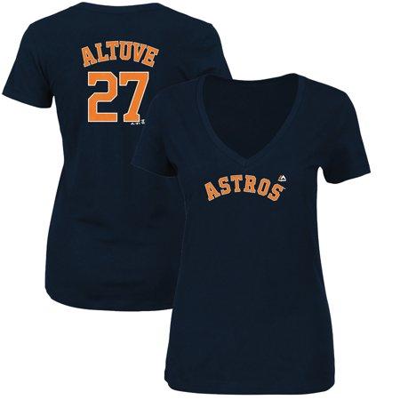 308438ae1ef Majestic - Jose Altuve Houston Astros Majestic Women s Name   Number V-Neck  T-Shirt - Navy - Walmart.com
