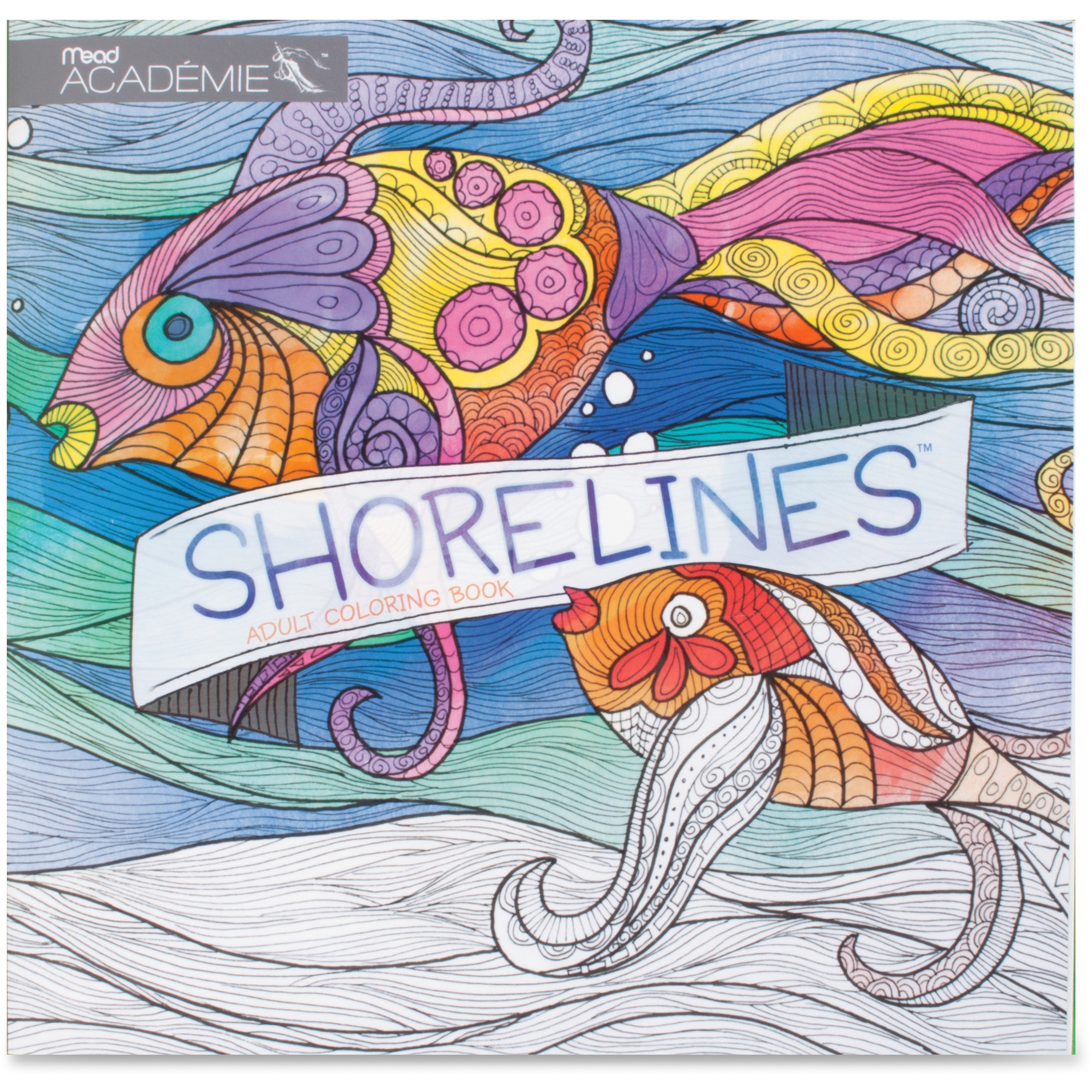 Mead Shorelines Adult Coloring Book Coloring Printed Book