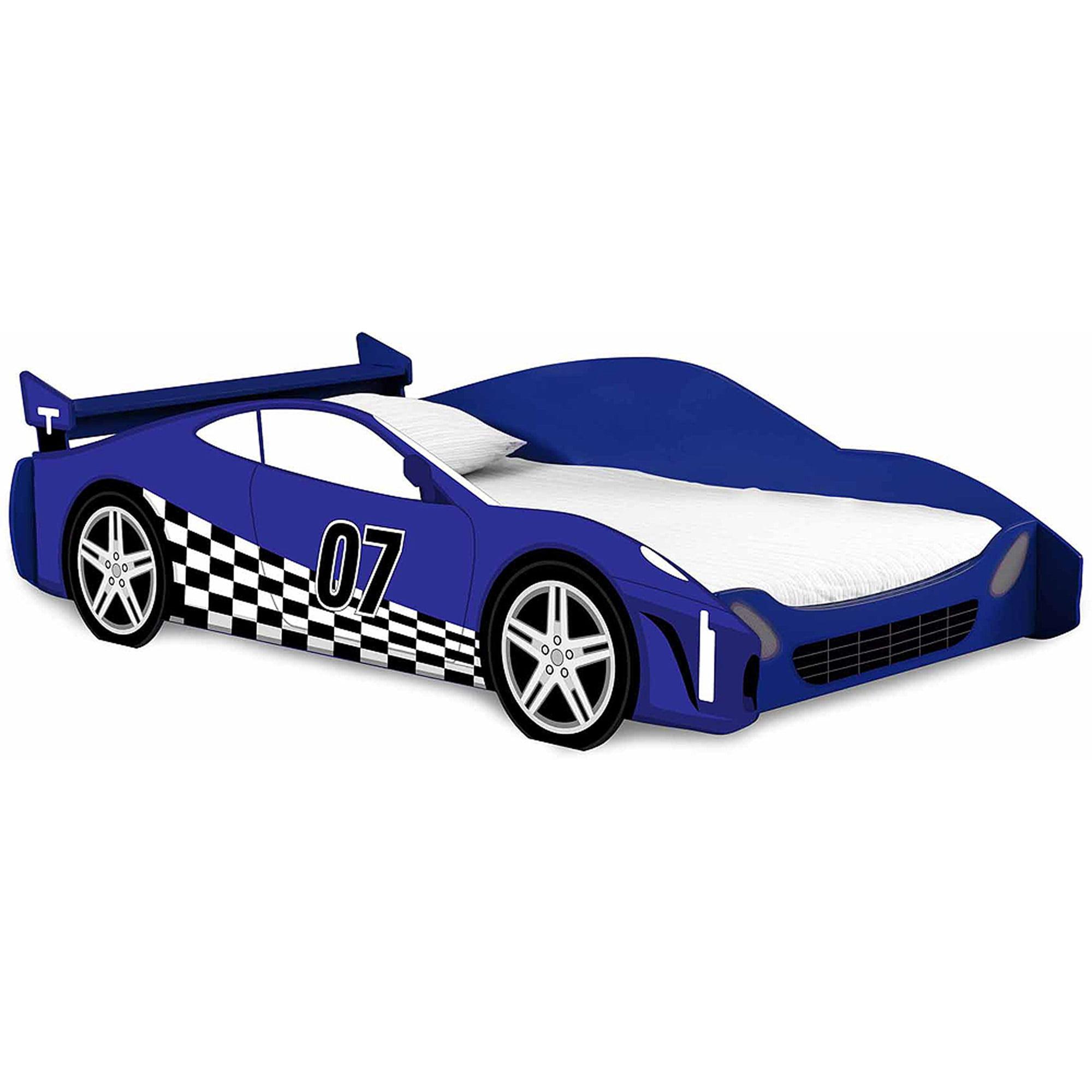 Legar Furniture Race Car Twin Bed Frame Kids Bed Furniture Blue