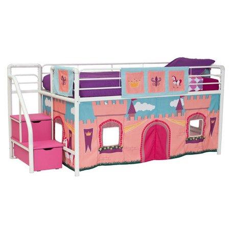 Dhp Princess Castle Curtain Set For Junior Loft Bed