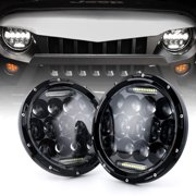 """Xprite 7"""" 75W CREE LED Headlights With DRL For 1997-2018 Jeep Wrangler JK TJ"""