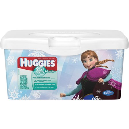 Huggies One Amp Done Refreshing Baby Wipes Pop Up Tub 64