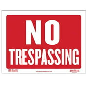 Bazic Products S-13-24 BAZIC 9 in. X 12 in. No Trespassing Sign Case of 24