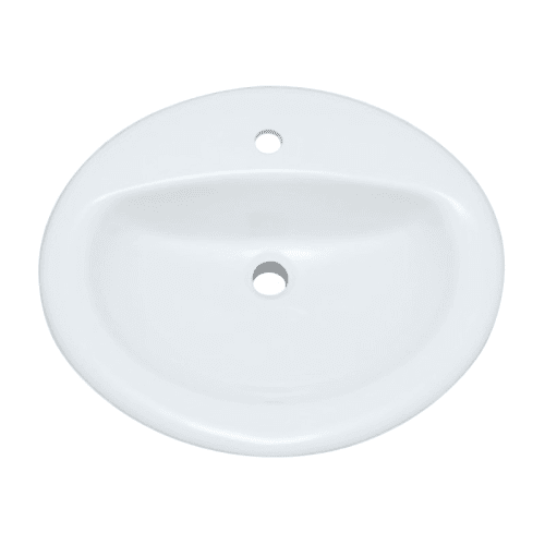 "ProFlo PF20171 20-1/2"" Self Rimming Oval Bathroom Sink"