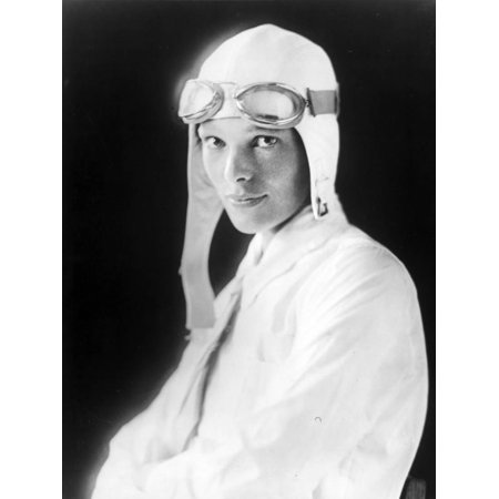 Amelia Earhart on Jet Pilot Costume Portrait Print Wall Art By Movie Star News