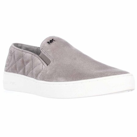 7b1ddce46d17 Michael Kors - Womens MICHAEL Michael Kors Keaton Quilted Slip-On Sneakers  - Pearl Grey - Walmart.com