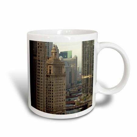 3dRose Chicago River, Michigan Avenue, Chicago, Illinois - US14 BFR0013 - Bernard Friel, Ceramic Mug, 11-ounce