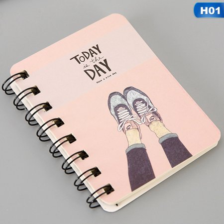KABOER Cute Animal Flower Cartoon Series Spiral Bound Notebook Students Pocket Note Book Mini Diary Book Pocket