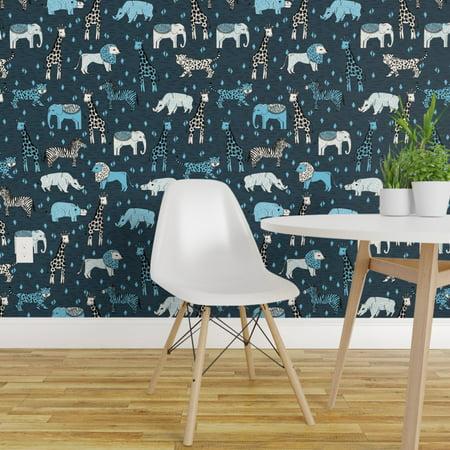 Peel and Stick Removable Wallpaper Safari Animals Nursery Jungle Zoo K
