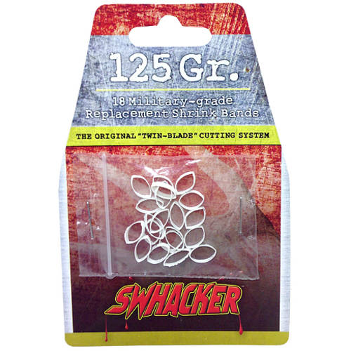 Swhacker 2 BLADE 125 GRAIN REPLACEMENT BANDS 18 PACK (FITS 202, 231)