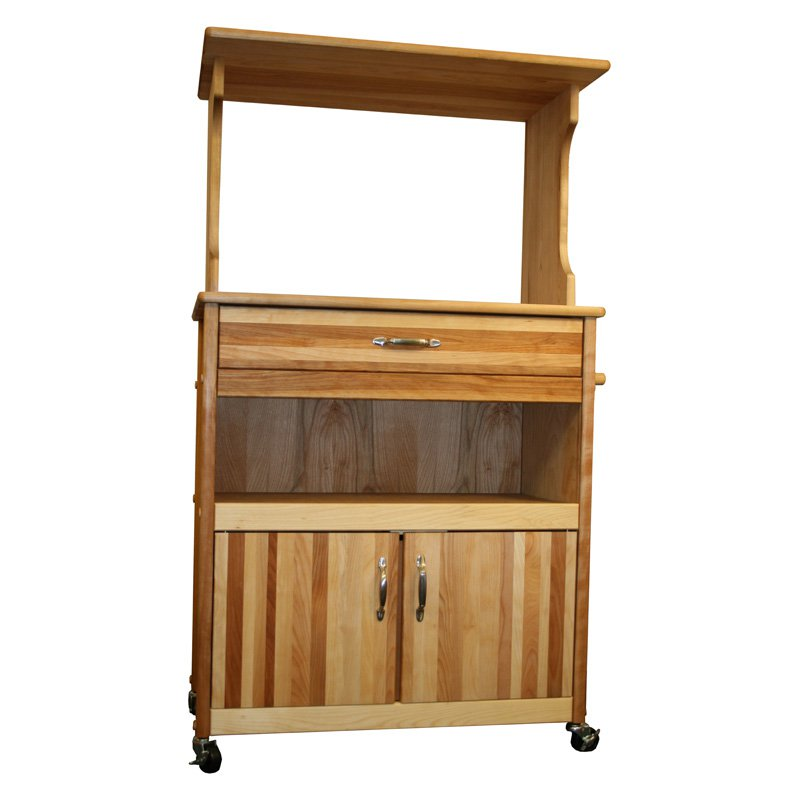 Catskill Microwave Cart with Open/Enclosed Storage