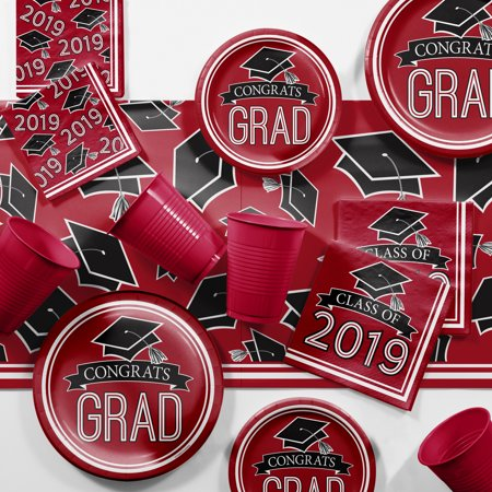 Red 2019 Graduation Party Supplies Kit ()