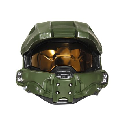 Master Chief Lightup Mask Child Halloween Accessory (Watch Ink Master Halloween)