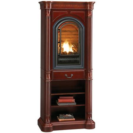 Hearthsense Natural Gas Vent Free Gas Tower Fireplace 20 000 Btu Cherry Finish