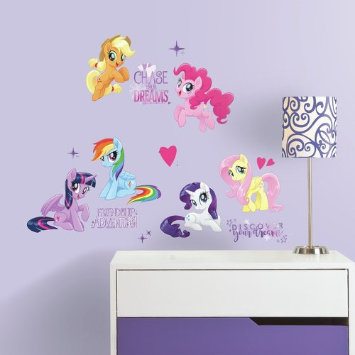 My Little Pony The Movie Peel And Stick Wall Decals With Glitter