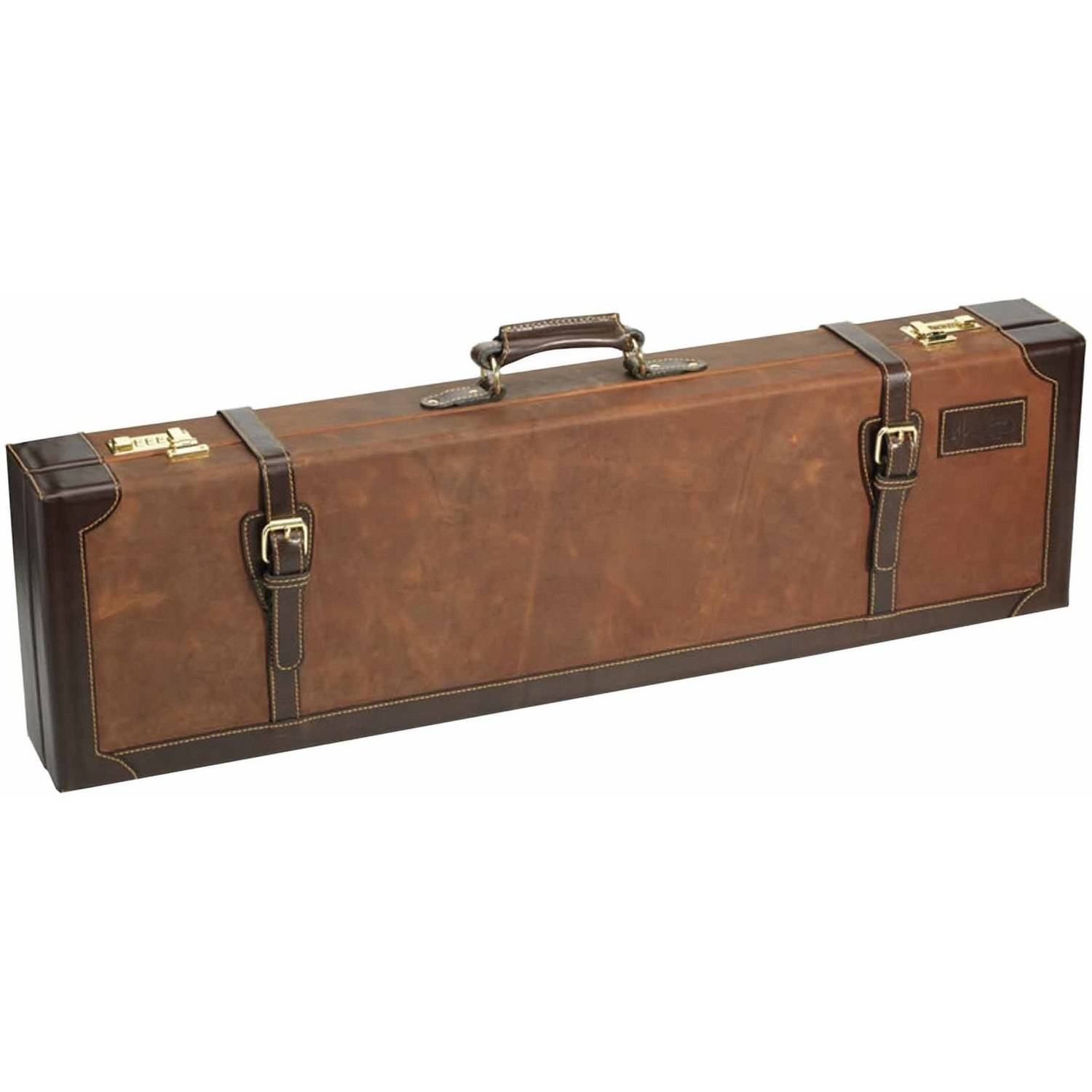 Browning John M. Browning Crazy Horse Leather Brown Fitted Gun Case