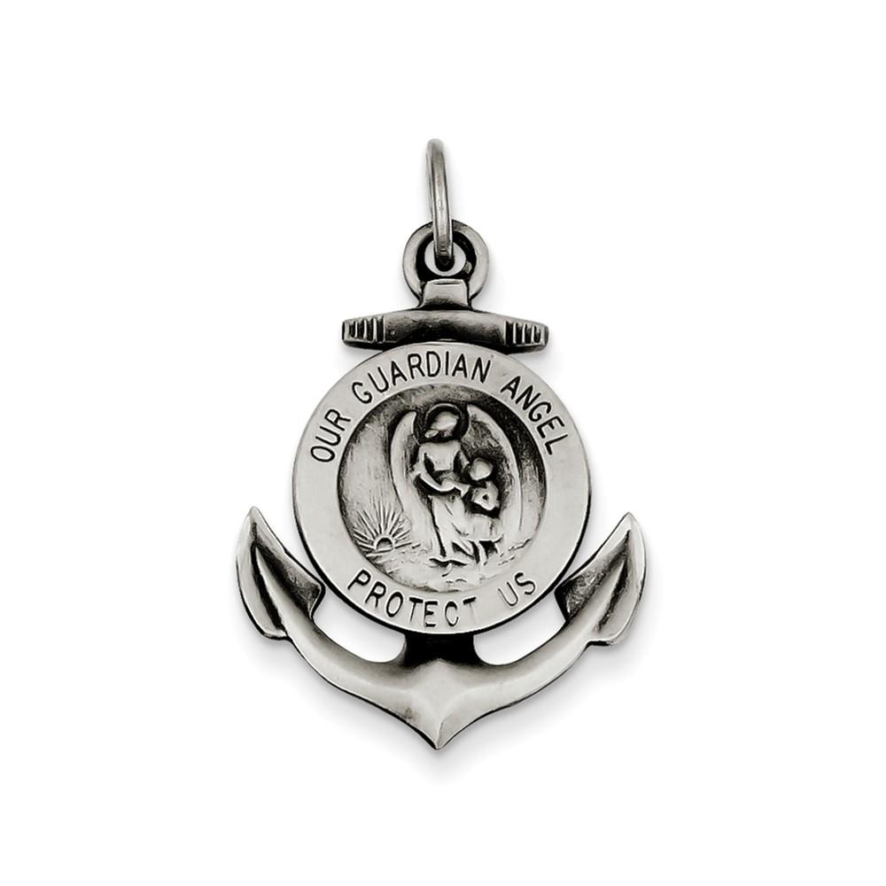 Gemaffair 925 Sterling Silver Our Guardian Angel Anchor M...