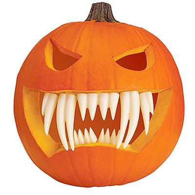 Pumpkin Fangs Set, Glow-in-the-Dark](Glow In The Dark Pumpkin)