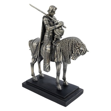 Design Toscano 10 in. Invocation: The Power of King Arthur (Silver Bronze Statue)