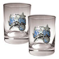 Great American NBA Logo Rocks Glass Set