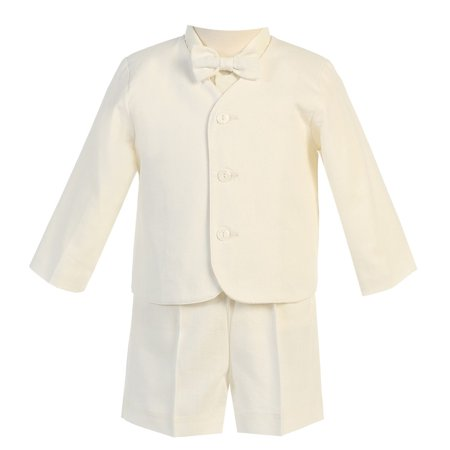 Baby Boys Ivory Eton Short Formal Ring Bearer Suit 12-18M - Ring Bearer Outfits