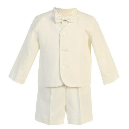 Baby Boys Ivory Eton Short Formal Ring Bearer Easter Suit 12-18M