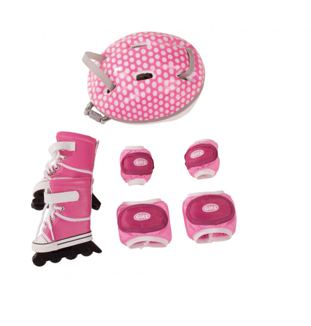 """GOTZ Doll Size Inline Skates Helmet and Pads for 18"""" and ..."""