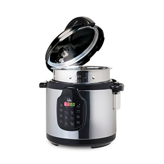 Elite Platinum 11-in-1 Electric Pressure Cooker, Slow Cooker, with 6Qt   Tri-ply Stainless Steel Inner Pot - Includes Accessories