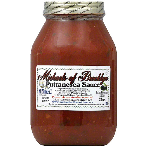 Michaels of Brooklyn Puttanesca Sauce, 32 oz, (Pack of 6)