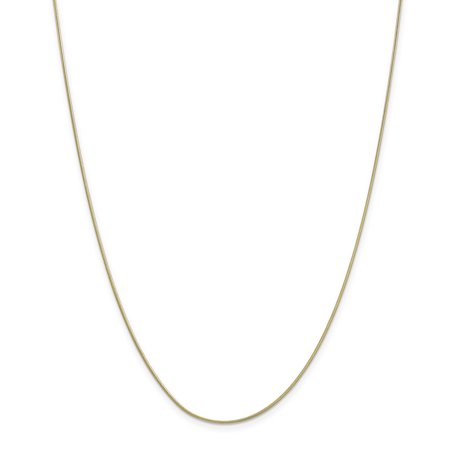- 10K Yellow Gold 0.90 MM Round Snake Link Chain Necklace, 18