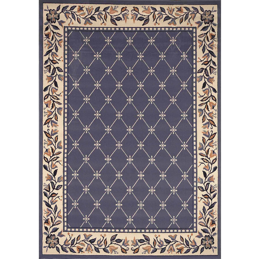 "Home Dynamix Premium Collection Scatter Area Rug, Country Blue, 21"" x 35"""