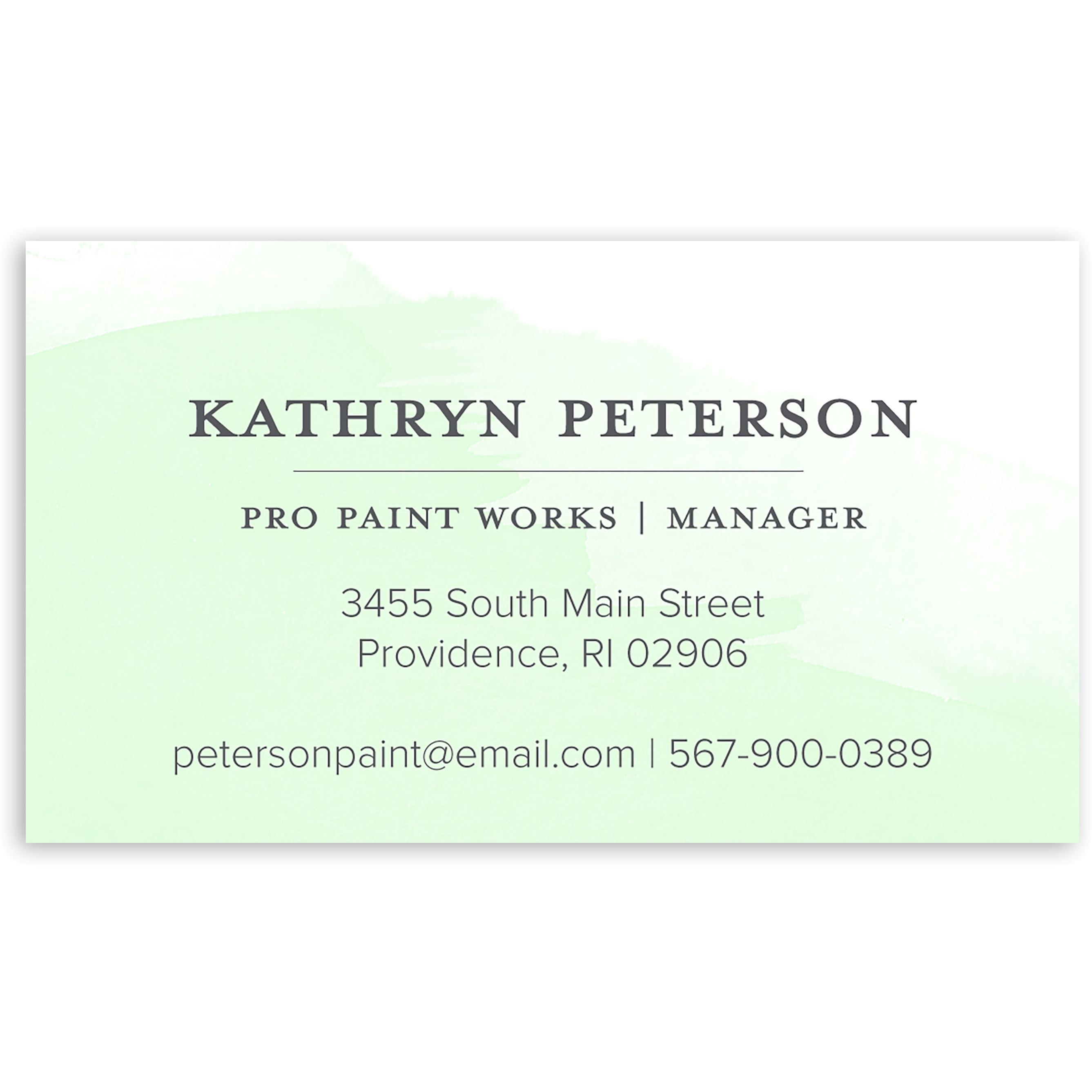 Watercolor Note - Personalized 3.5 x 2 Business Card