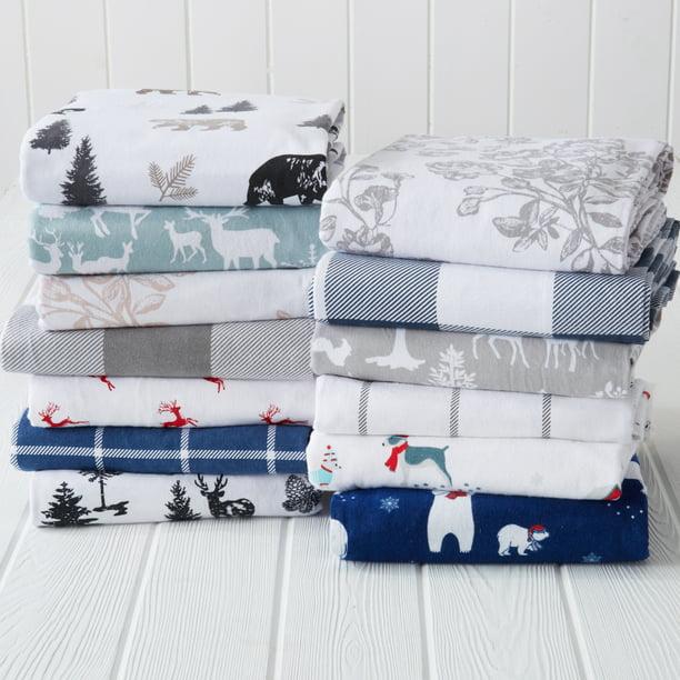 Great Bay Home Lodge Printed 100 Turkish Cotton Flannel Sheet Set Walmart Com Walmart Com