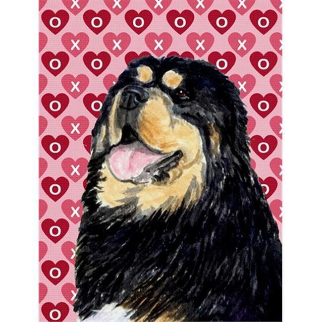 11 x 15 In. Tibetan Mastiff Hearts Love Valentines Day Flag, Garden Size - image 1 of 1