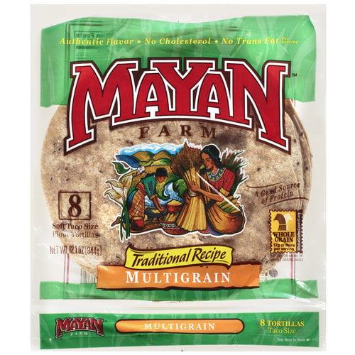Mayan Farm Traditional Recipe Multigrain Tortillas, 8ct
