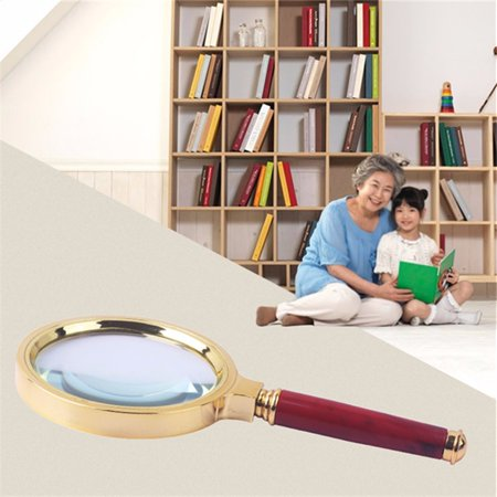 Professional Magnifying Glass [ 10X  70mm] Handheld Magnifier for Reading Maps Jewelry Book For Elder Gift
