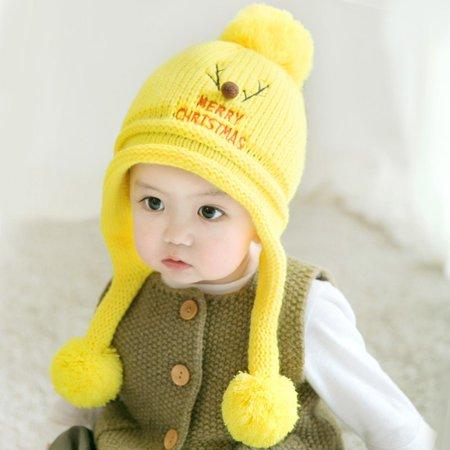 ce3eb7e4714 EFINNY - Fashion Knit Sweater Cap Infant Baby Kids Toddler Cute Winter Warm  Xmas Hat Boy Girl - Walmart.com