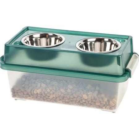- Iris  Medium Elevated Pet Feeder with Airtight Storage