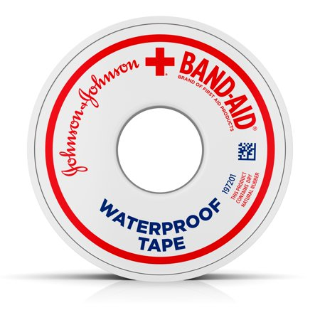 First Aid Textbook - Band-Aid Brand of First Aid Products Waterproof Tape to Secure Bandages,.5 Inches by 10 Yards