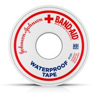 Band-Aid Brand of First Aid Products Waterproof Tape to Secure Bandages,.5 Inches by 10 Yards