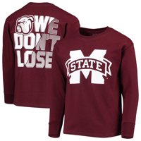 Youth Russell Athletic Maroon Mississippi State Bulldogs Graphic Long Sleeve T-Shirt