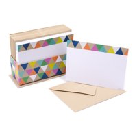 Hallmark Single-Panel Notecards (Triangle Trim, 50 Cards and Envelopes)