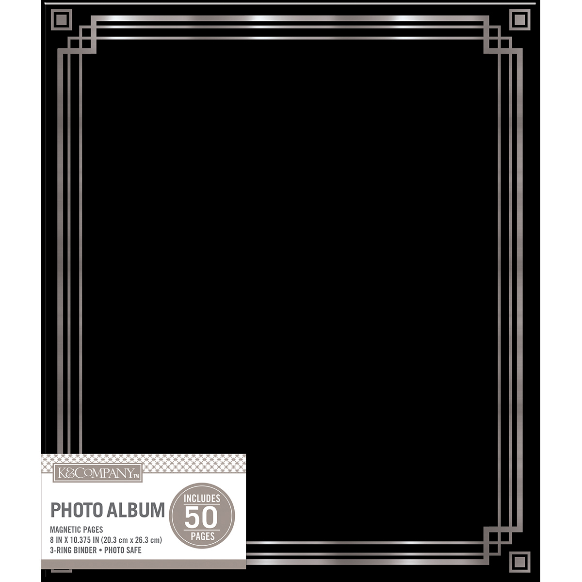 "K&Company Magnetic Binder Photo Album 9.75""X11.25""-Black"
